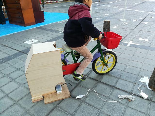 子どもによる発電